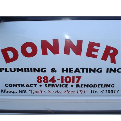 Plumbing Albuquerque Nm by Donner Plumbing Heating Inc In Albuquerque Nm 505
