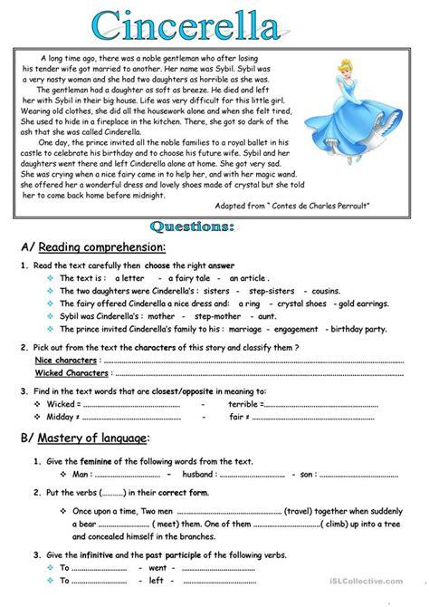 Fables Comprehension Worksheets by 75 Free Esl Fables Worksheets