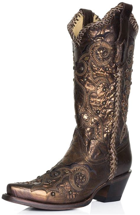 corral womans boots corral boots womens studded whip stitch cowboy boots bronze