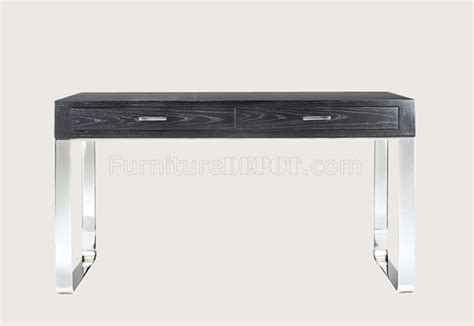 Modern Metal Desk Wenge Finish Contemporary Office Desk With Metal Legs