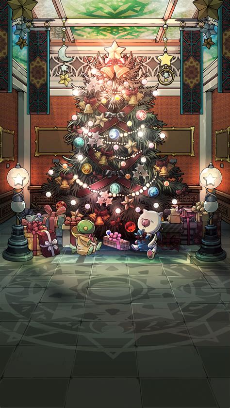 Christmas Wallpaper Reddit | ffrk new years background download inside ffrecordkeeper