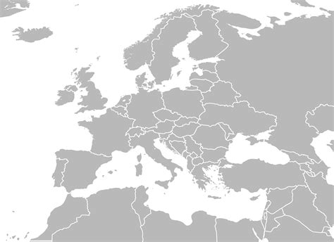 blank european maps blank map of europe and africa