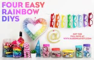 4 easy rainbow diys karen kavett