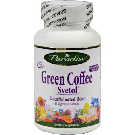 Herbal Green Coffee Paradise Herbs Green Coffee Svetol 60 Vcaps Happy Is
