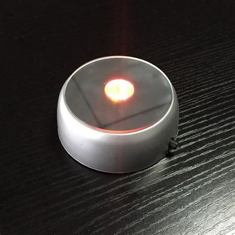 battery powered laser light show 3d round crystal glass laser led battery electric light up