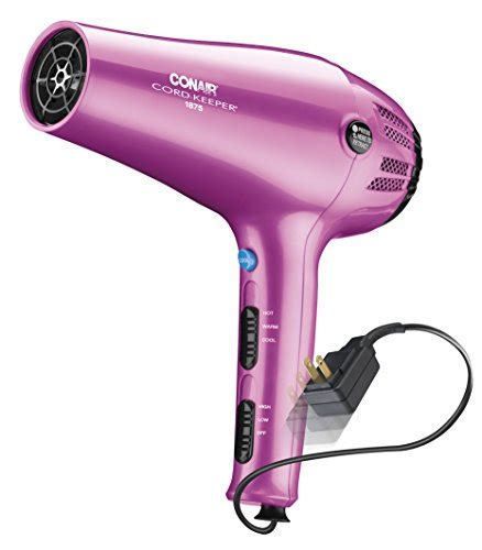 Conair Hair Dryer Accessories conair 1875 watt cord keeper hair dryer pink import it all