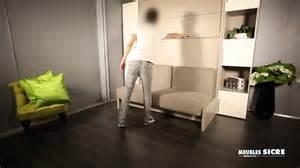 meubles sicre lit armoire gain de place
