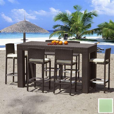 shop source outdoor 7 zen aluminum patio bar height