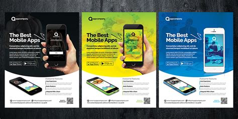 brochure templates for android mobile app flyer template brochure templates codester