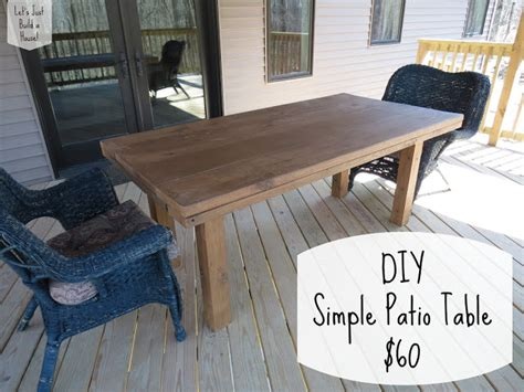 How To Build A Patio Table Let S Just Build A House Diy Simple Patio Table Details