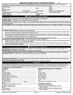 appraisal completion letter form 1004d fill printable fillable blank pdffiller