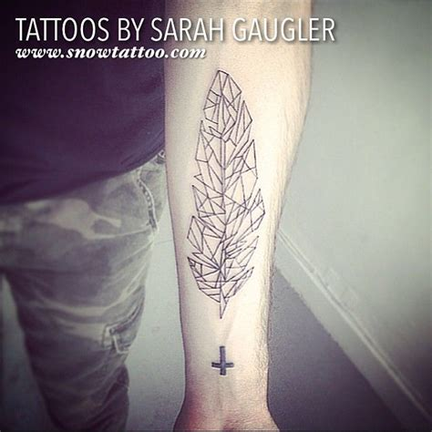 geometric tattoo new york 10 best feather tattoos by sarah gaugler images on