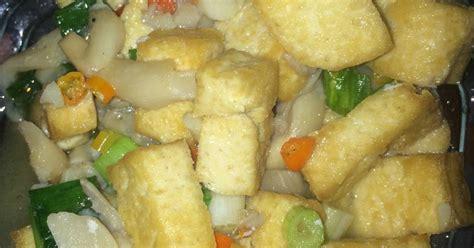 buat jamur tiram crispy resep tahu cah jamur tiram simple oleh nita cookpad