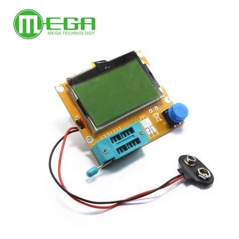 npn transistor multimeter 1pcs lcr t4 mega328 transistor tester diode triode capacitance esr meter mos pnp npn l c r well