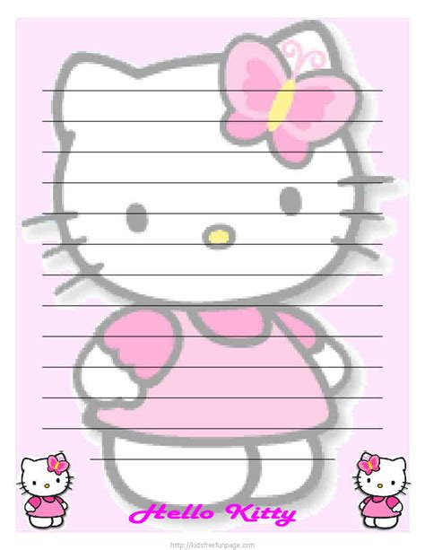 hello kitty printable templates