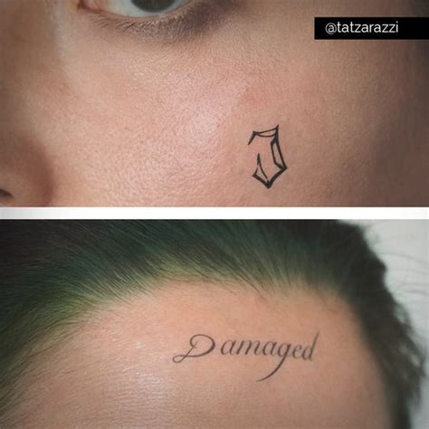 joker tattoo damaged jared leto s joker damaged and j temporary tattoos by