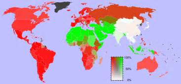 christian map christianity and islam throughout the world map