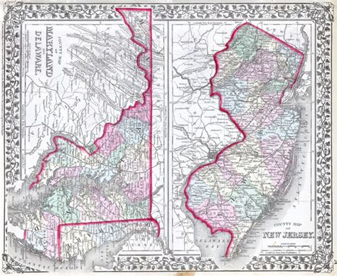 maryland delaware map county map of new jersey county map of maryland and