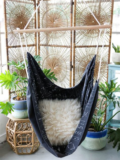 diy hammock swing chair how to make a diy hammock out of mudcloth hgtv s
