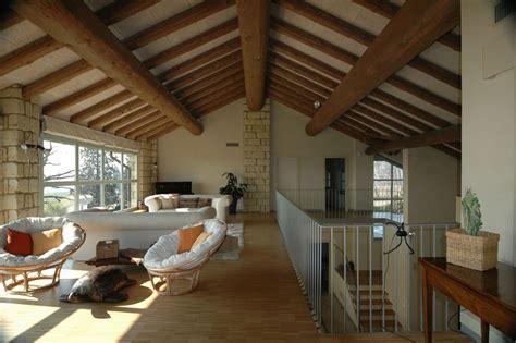 Interior Design Bathroom large beams living space rustic farmhouse in rosignano