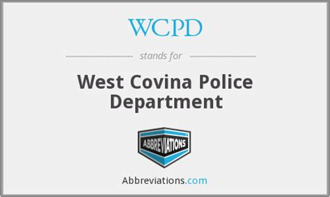 wc pd wcpd west covina department