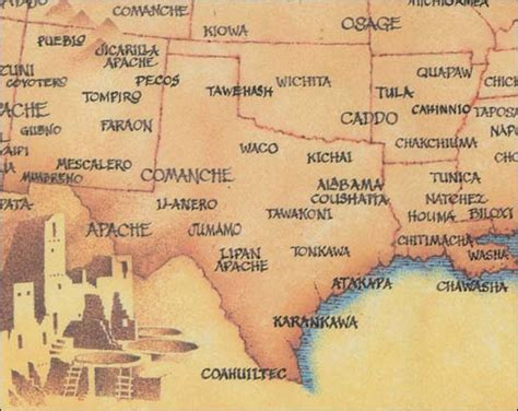 map of indian tribes in texas indian in texas the punchcard posse