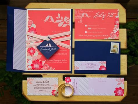 coral and navy wedding invitations gorgeous navy and coral wedding invitations onewed