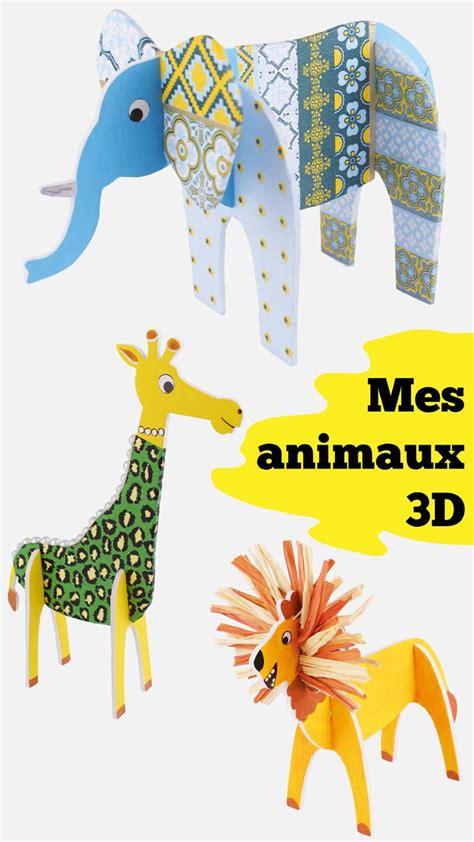 Animaux En E by Animaux 3d 224 Embo 238 Ter Et D 233 Corer Activit 233 Facile Pour Les