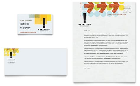 business consultancy letterhead template marketing consultant business card letterhead template
