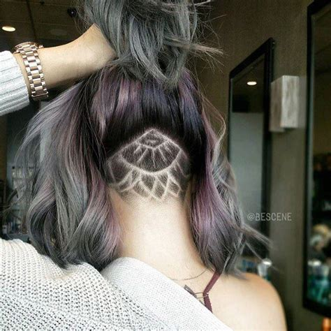 shaved nape with design women cool undercut nape shaved design for girls 20