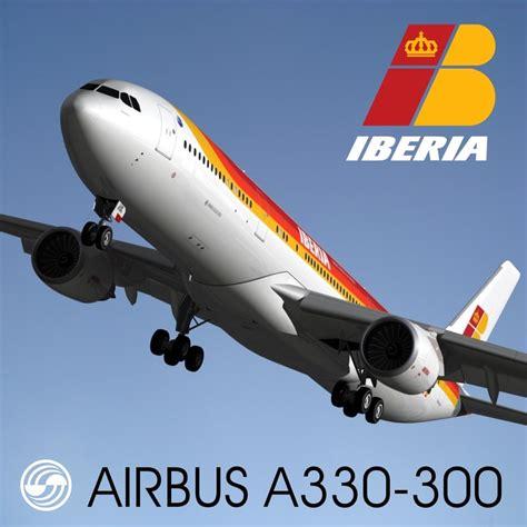 Iberia Ausbus A330 Passenger Airplane Alloy Plane Aircraft Metal Dieca 3d airbus a330 300 iberia model