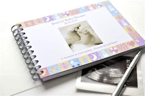 Personalised Baby Shower Book by Personalised Baby Shower Book By Amanda Hancocks