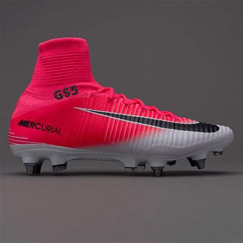 Sepati Kets Boots Wanita Nike White Replika nike mercurial superfly v sg pro mens boots soft ground race pink black white