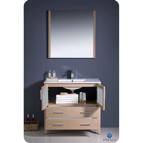 Oak Vanity Light Fresca Torino 30 Quot Light Oak Modern Bathroom Vanity With Undermount Sink