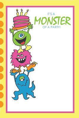 printable monster notecards 17 best images about monster b day party on pinterest