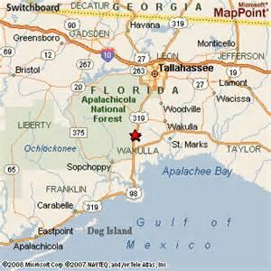 map of alligator point florida crawfordville florida