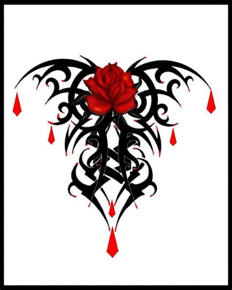 dark rose tattoo designs designs designs tribal design