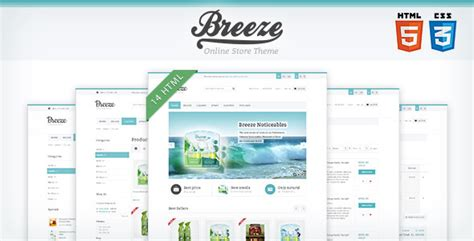 template layout in css3 breeze html5 css3 store template by wpway themeforest