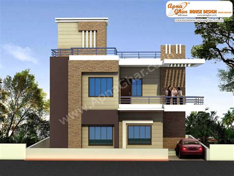 modern beautiful duplex house design in 920 square