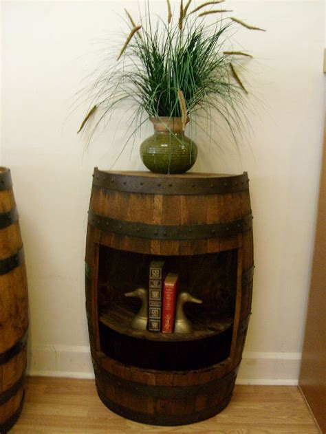 whiskey barrel side table best 25 whiskey barrel table ideas on whiskey