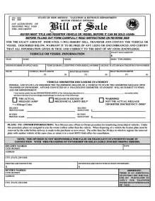 new car bill of sale vehicle or vessel bill of sale sle form new mexico