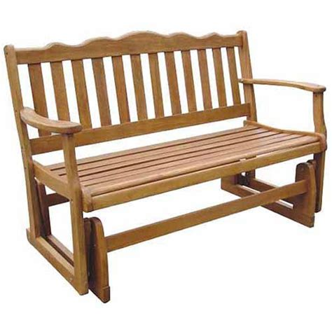 walmart benches outdoor a l furniture yellow pine fanback outdoor bench glider