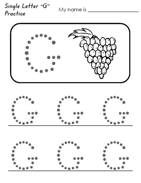 worksheets for preschool letter g letter g worksheets for preschool free printable tracing