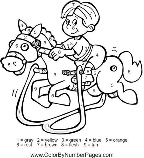 horse coloring pages by numbers coloring pages for kids color by number horse color by