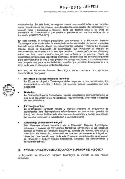 Diseño Curricular Por Competencias Minedu Rvm N 176 069 2015 Minedu Aprobar El Dise 241 O Curricular B 225 Sico Nacional D