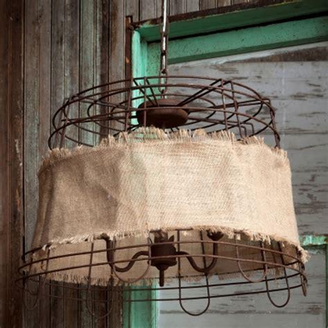 wire light fixture park hill wire basket burlap light fixture ll1252