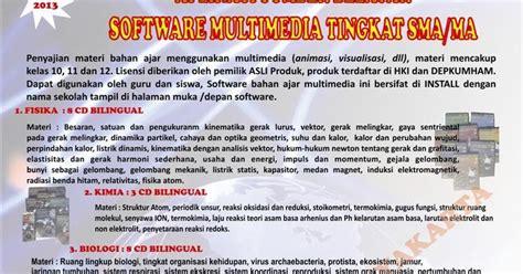 Biilogy Bilingual 3 Smp cd interaktif multimedia sd mi smp mts sma ma cd interaktif sma 2013 pengadaan media