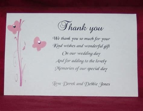 Wedding Gift Thank You by Wedding Thank You Card Wording Tips Invitations Templates