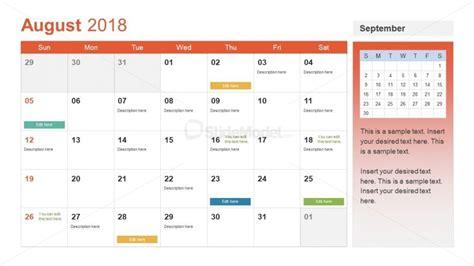 Event Planning Format Of Calendar Presentation Slidemodel Event Management Presentation Template