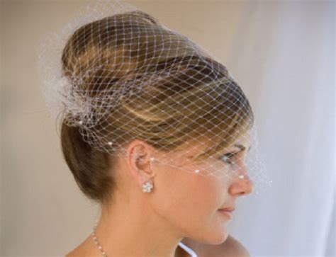 Wedding Hairstyles With Veil 2014 by Birdcage Veils She Said